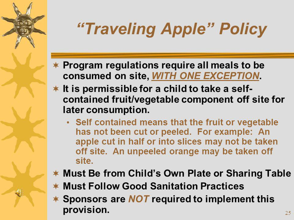Traveling Apple Policy