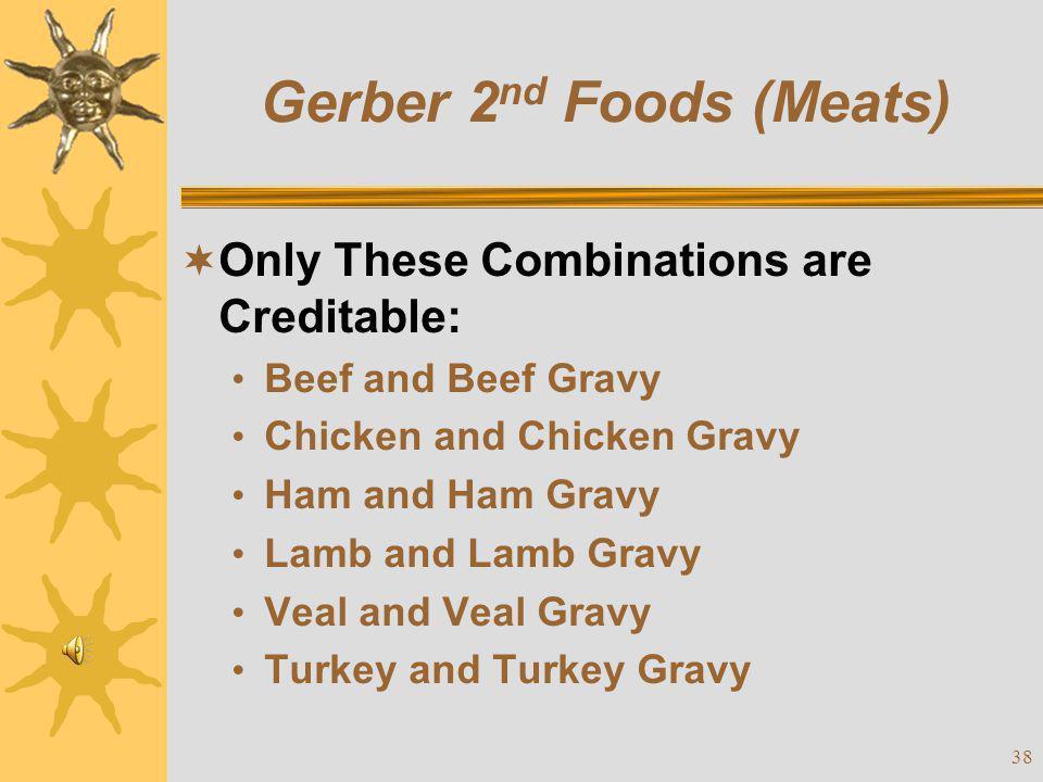 Gerber 2nd Foods (Meats)