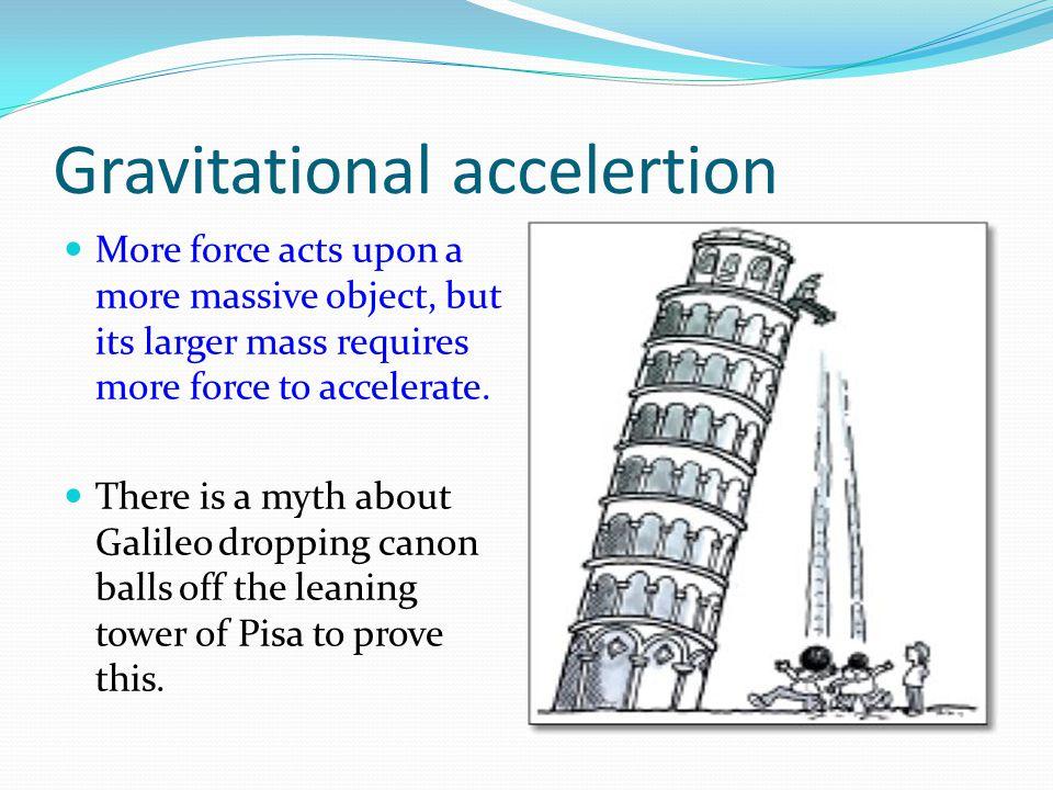 Gravitational accelertion