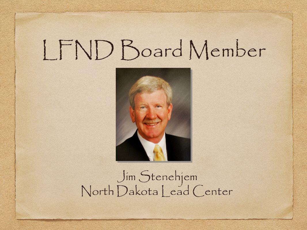 Jim Stenehjem North Dakota Lead Center