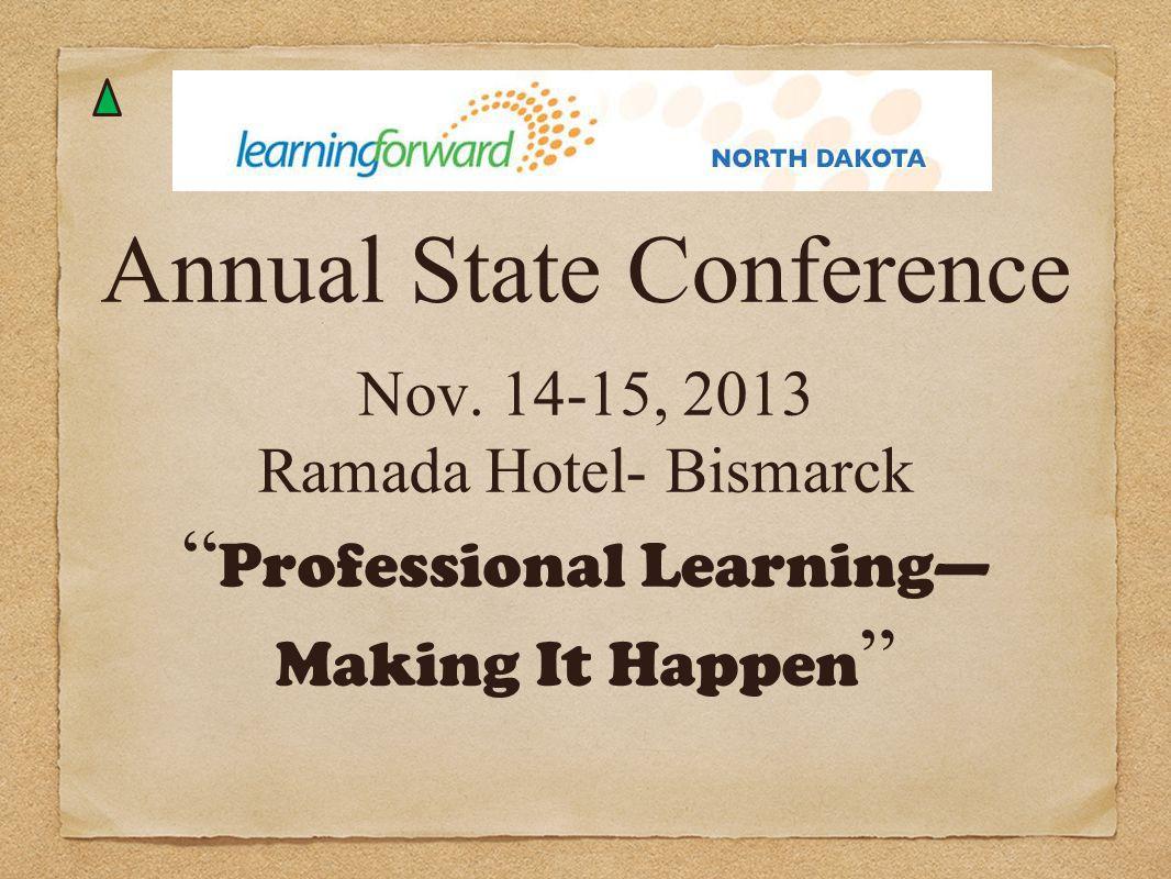 Annual State Conference Nov