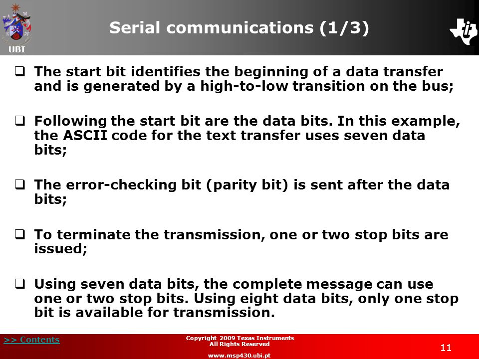 Serial communications (1/3)