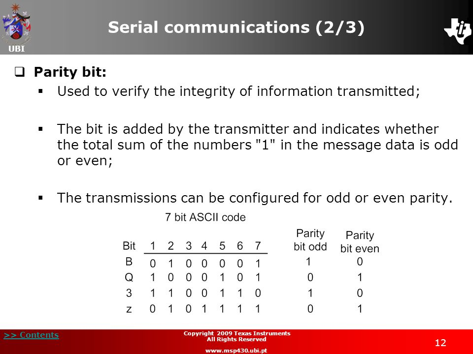 Serial communications (2/3)