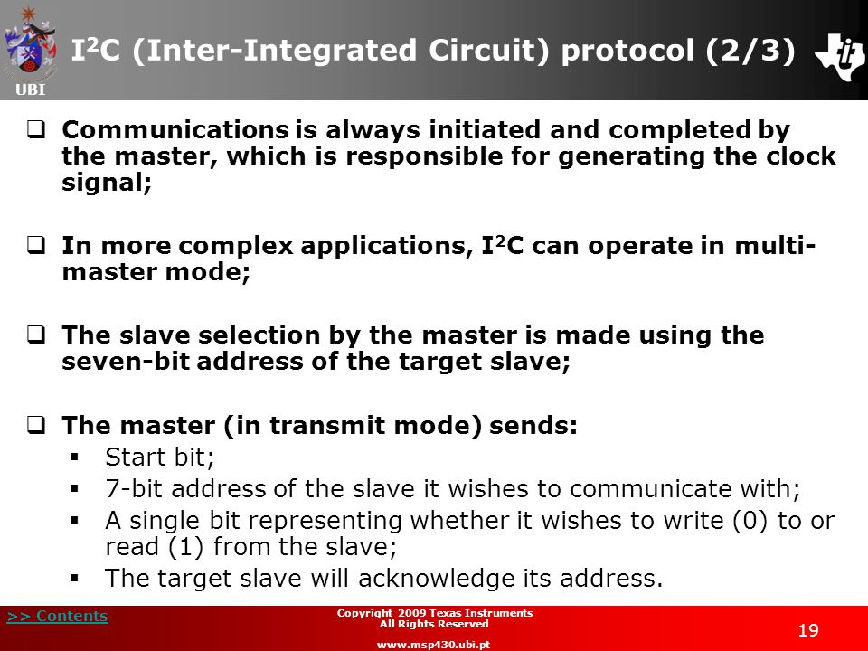 I2C (Inter-Integrated Circuit) protocol (2/3)