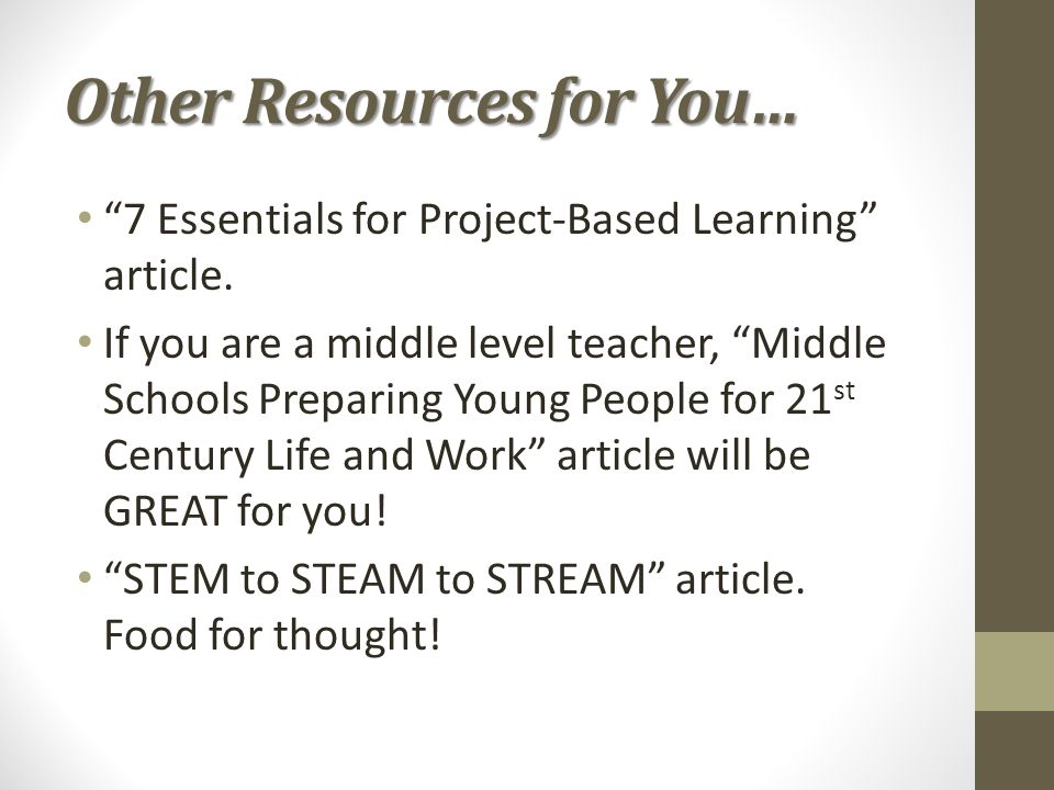 Other Resources for You…