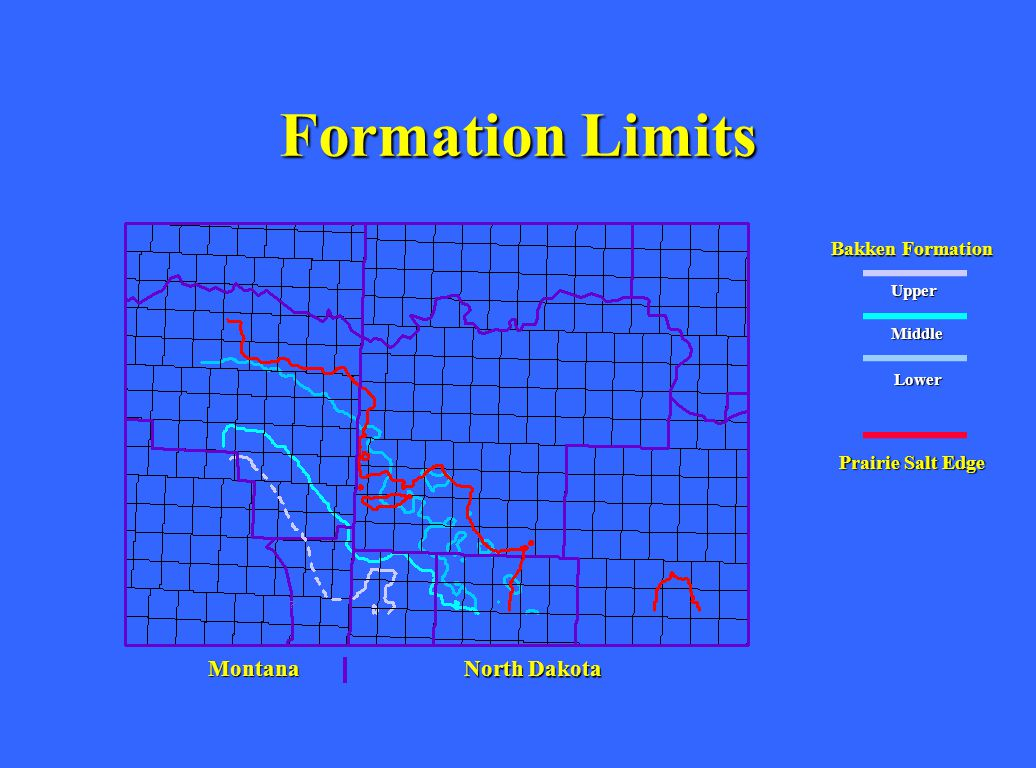 Formation Limits Montana North Dakota Bakken Formation