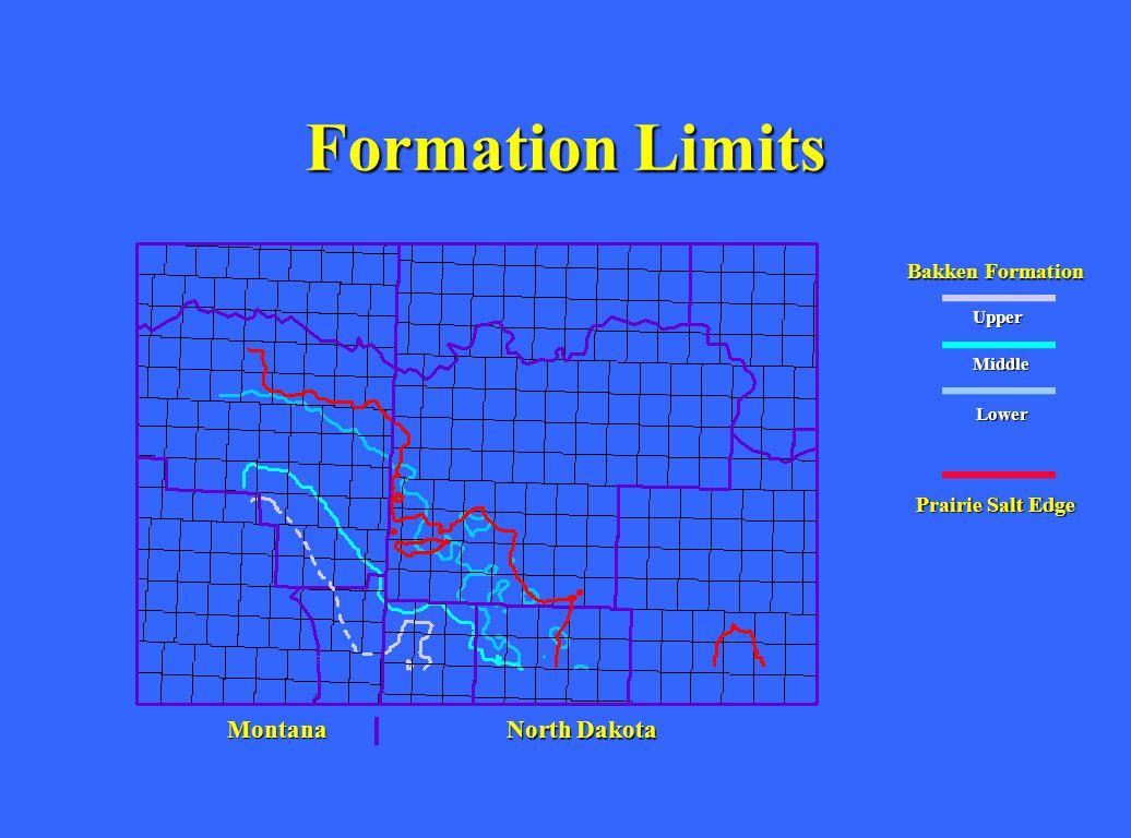 Formation Limits Montana North Dakota Bakken Formation