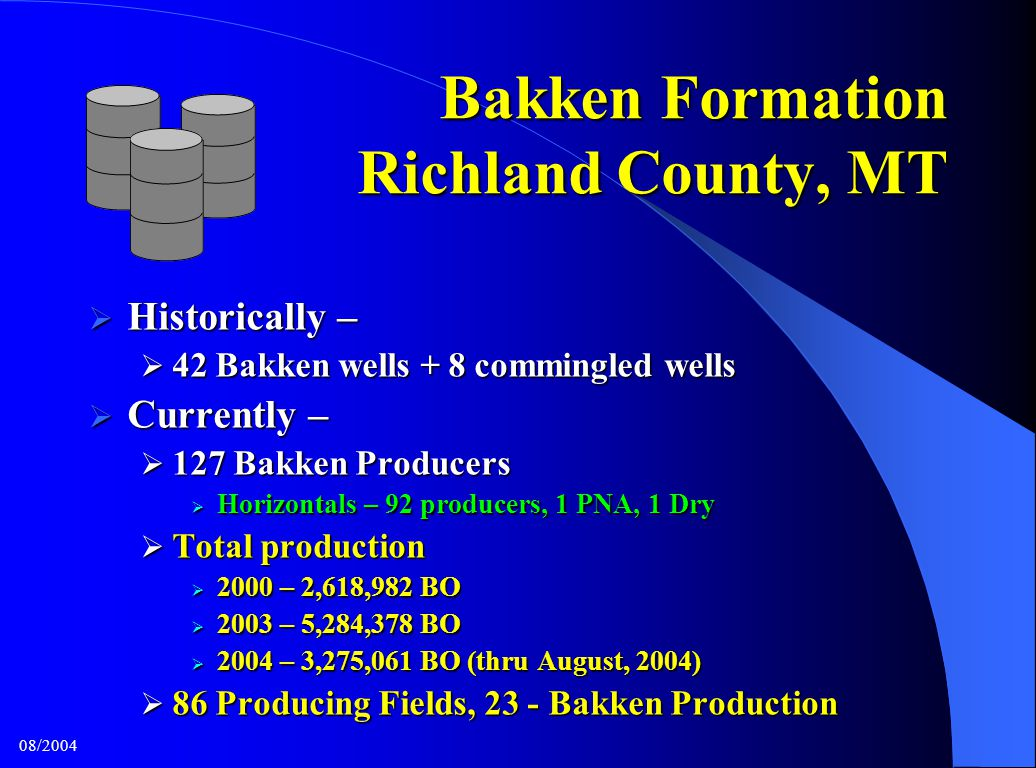 Bakken Formation Richland County, MT