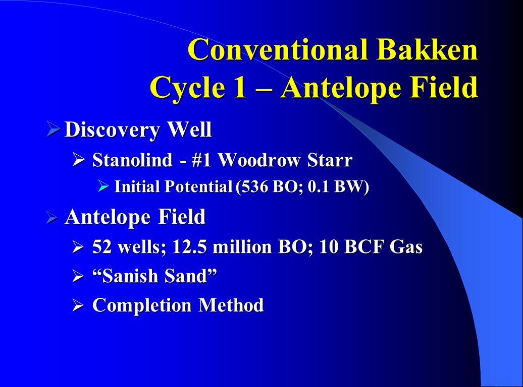 Conventional Bakken Cycle 1 – Antelope Field