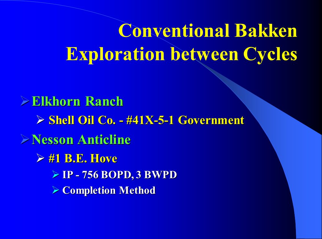 Conventional Bakken Exploration between Cycles