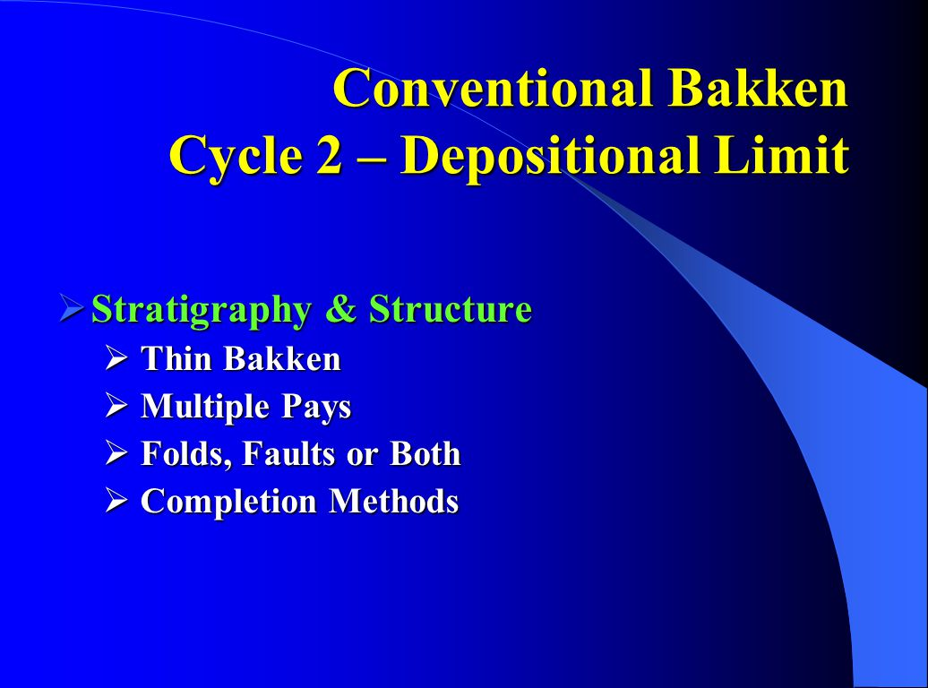 Conventional Bakken Cycle 2 – Depositional Limit