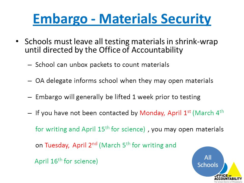 Embargo - Materials Security