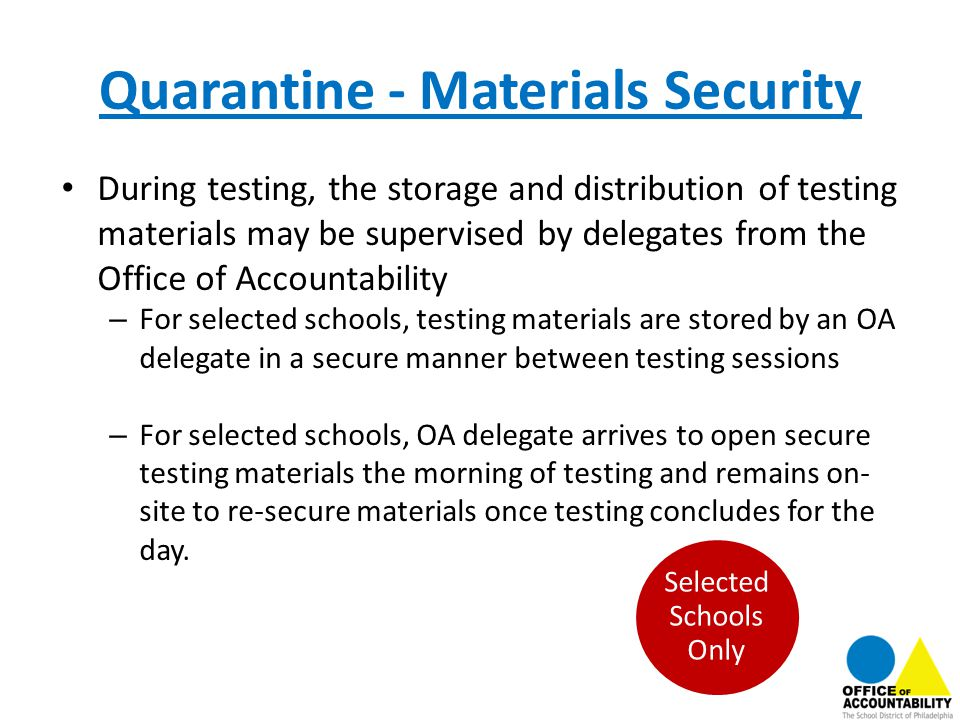 Quarantine - Materials Security