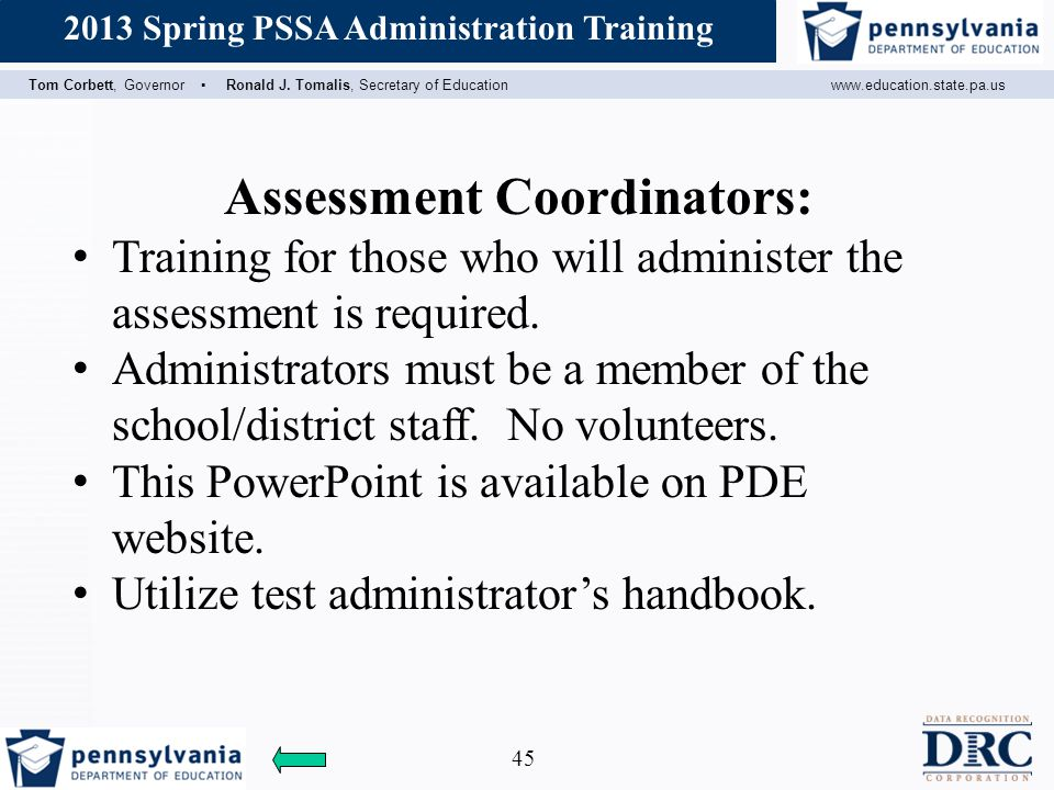 Assessment Coordinators:
