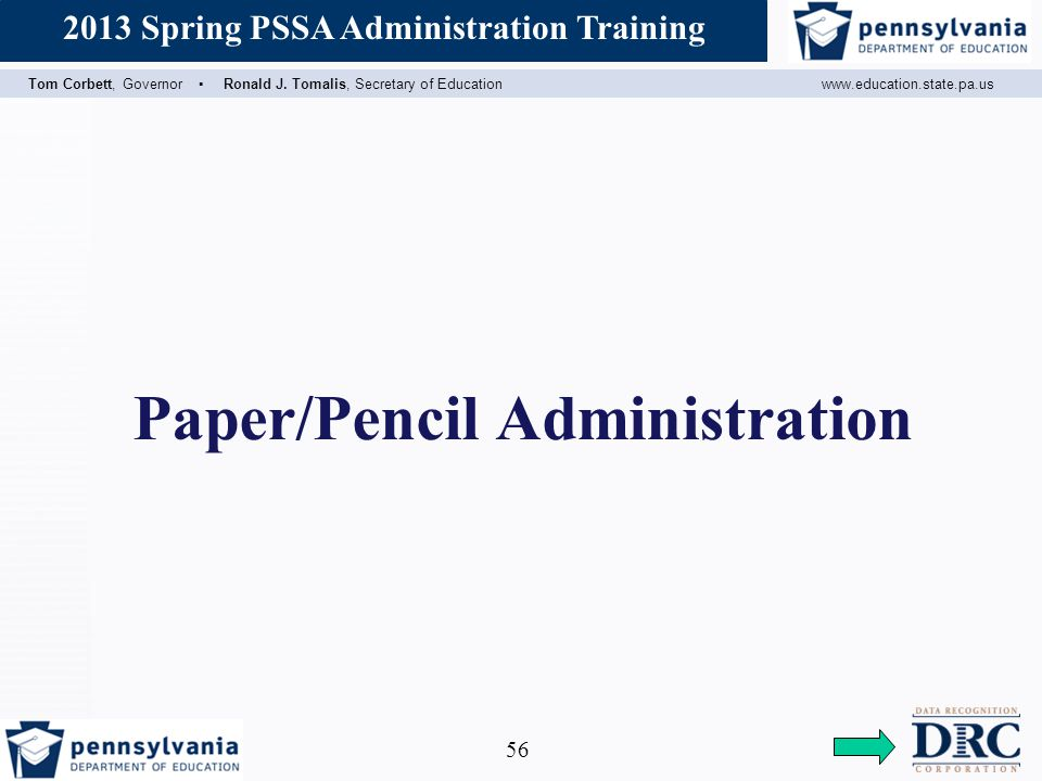 Paper/Pencil Administration