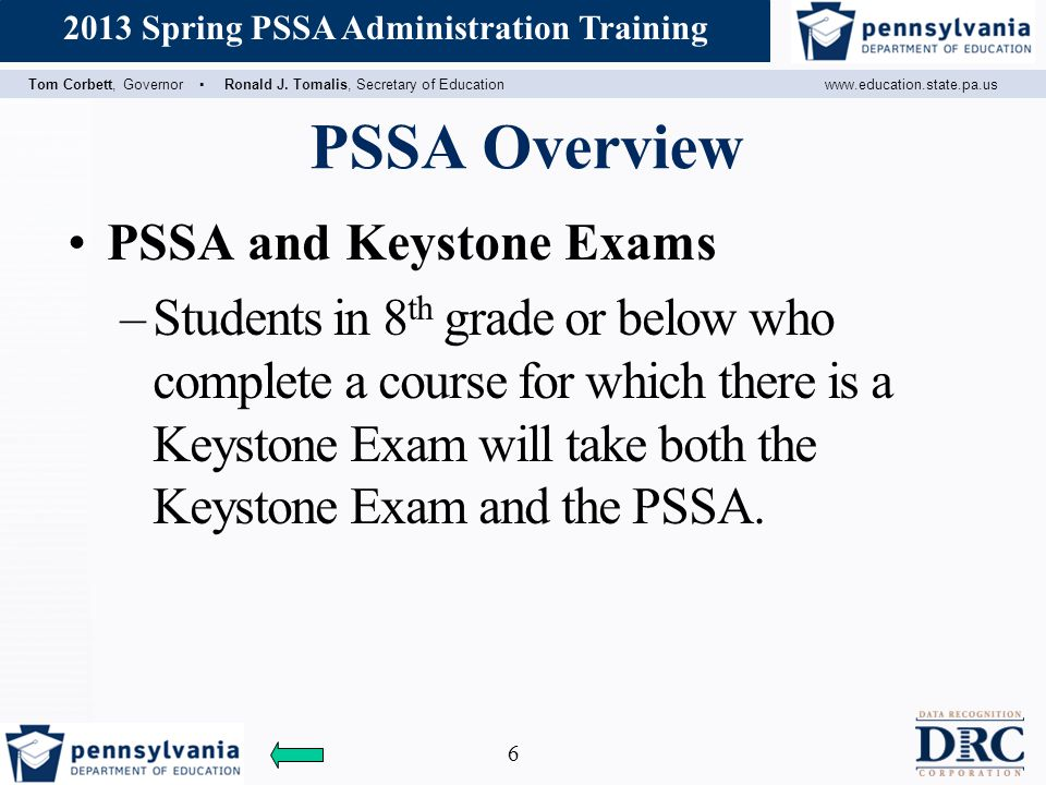 PSSA Overview PSSA and Keystone Exams