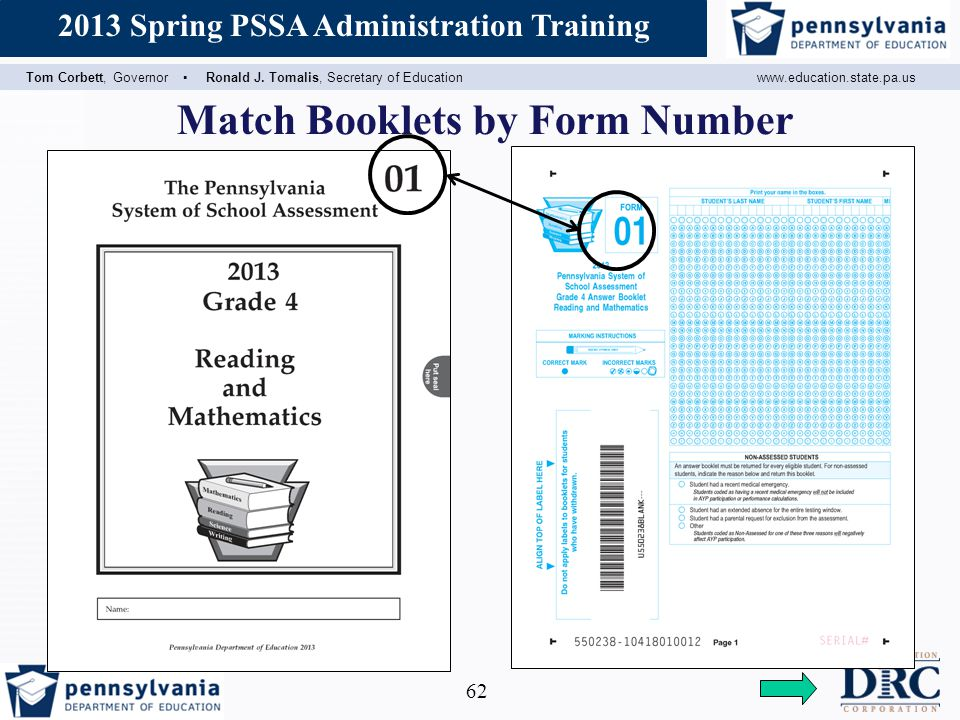 Match Booklets by Form Number