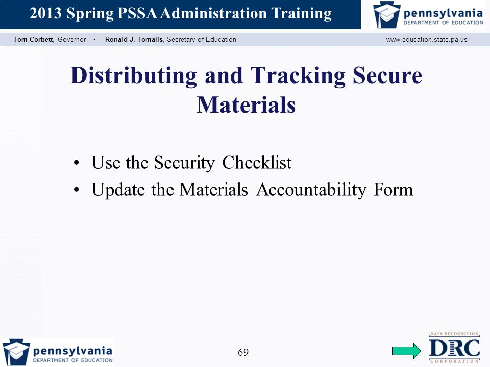 Distributing and Tracking Secure Materials