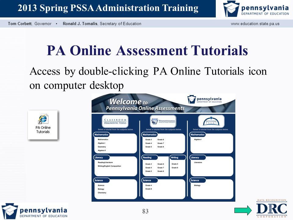 PA Online Assessment Tutorials