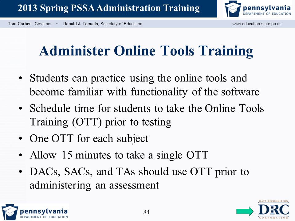 Administer Online Tools Training