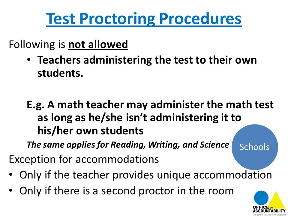 Test Proctoring Procedures