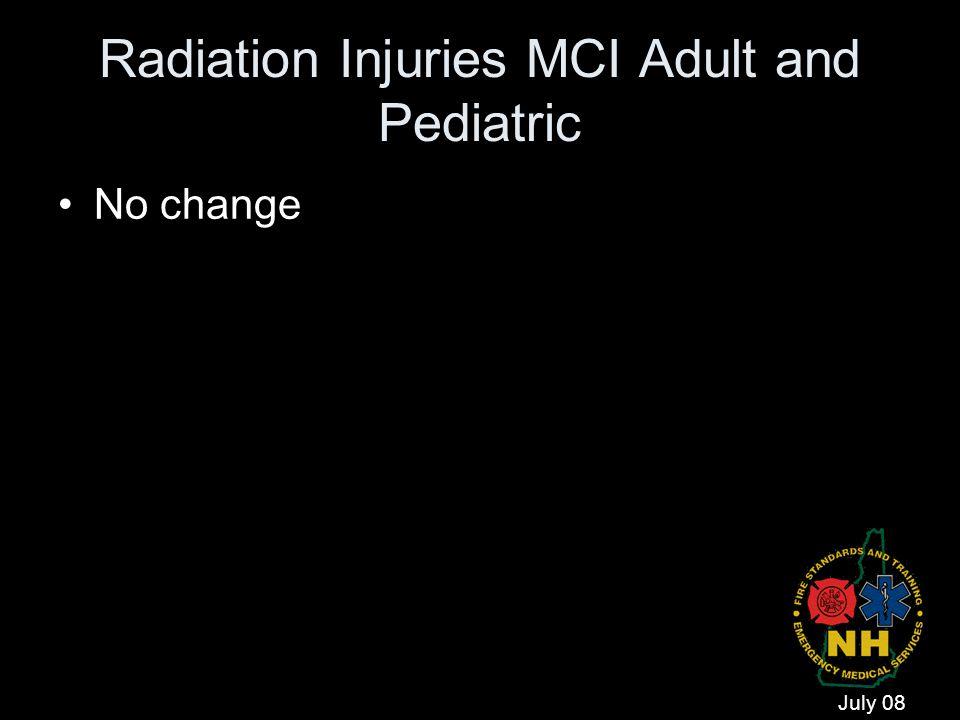 Radiation Injuries MCI Adult and Pediatric