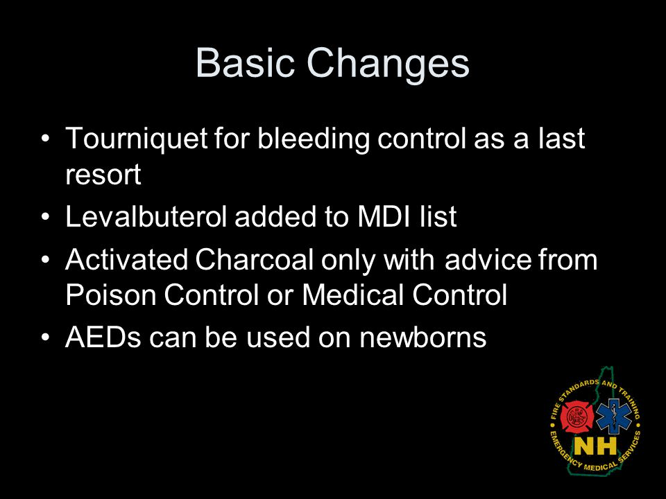 Basic Changes Tourniquet for bleeding control as a last resort