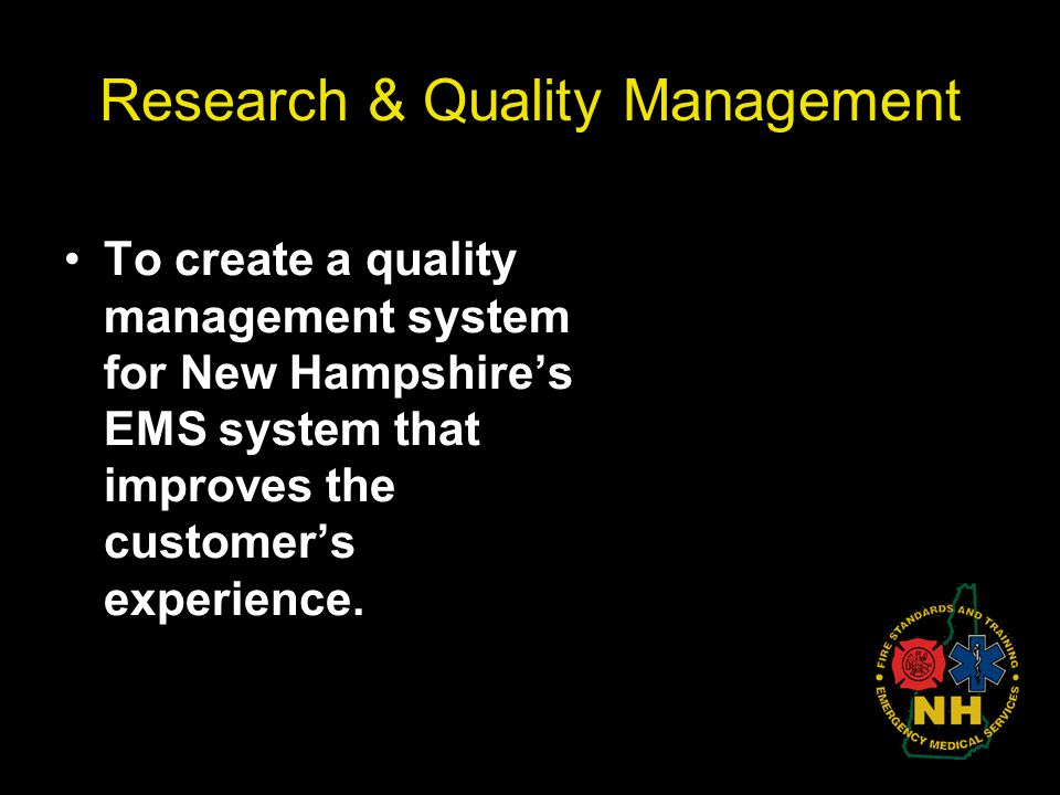 Research & Quality Management