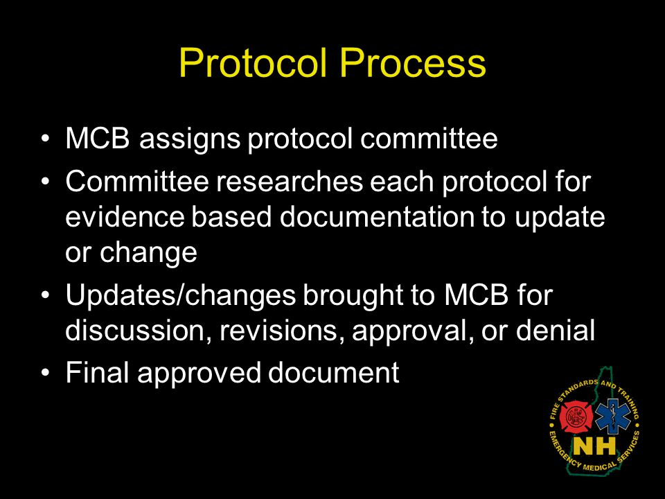 Protocol Process MCB assigns protocol committee