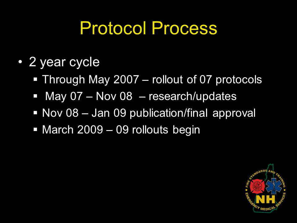 Protocol Process 2 year cycle