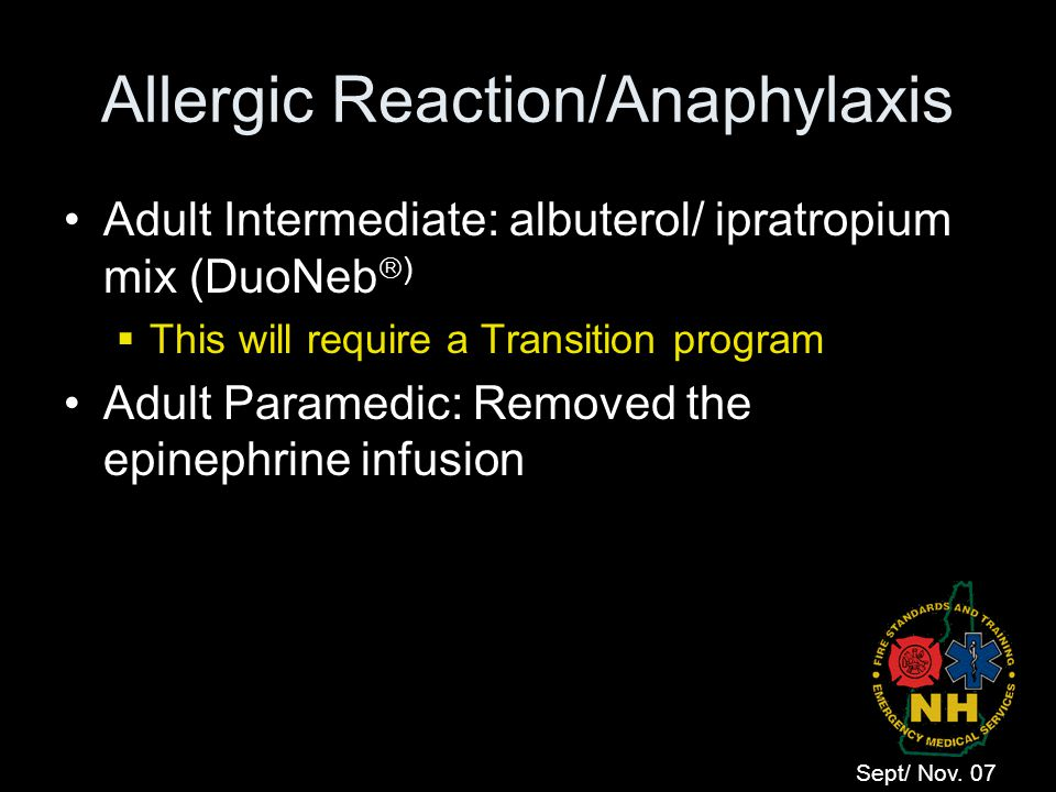 Allergic Reaction/Anaphylaxis