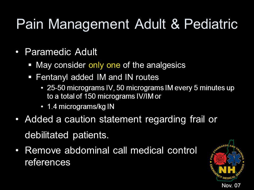 Pain Management Adult & Pediatric