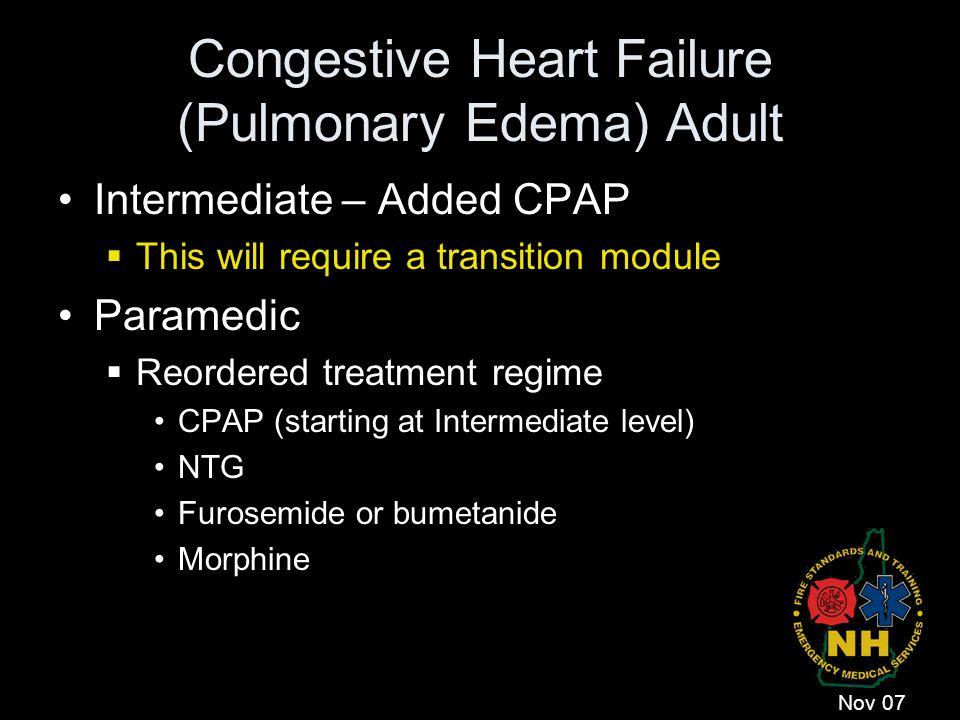 Congestive Heart Failure (Pulmonary Edema) Adult