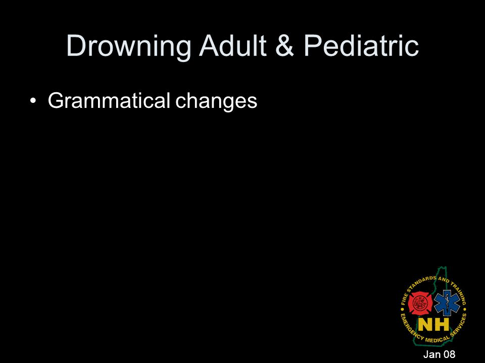 Drowning Adult & Pediatric