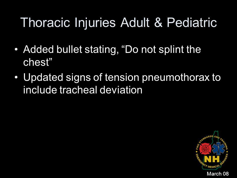 Thoracic Injuries Adult & Pediatric