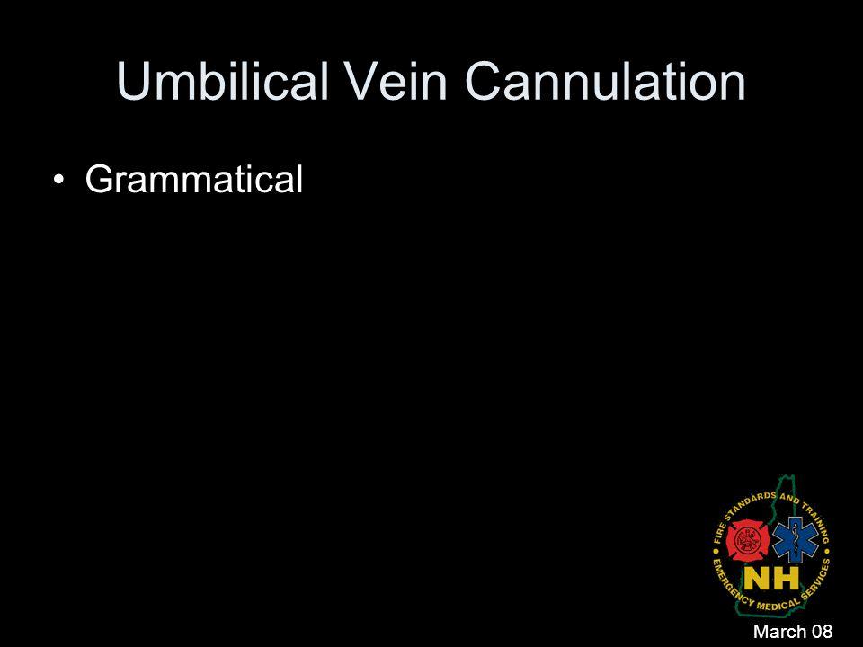 Umbilical Vein Cannulation