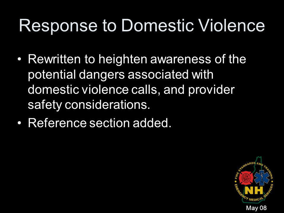 Response to Domestic Violence