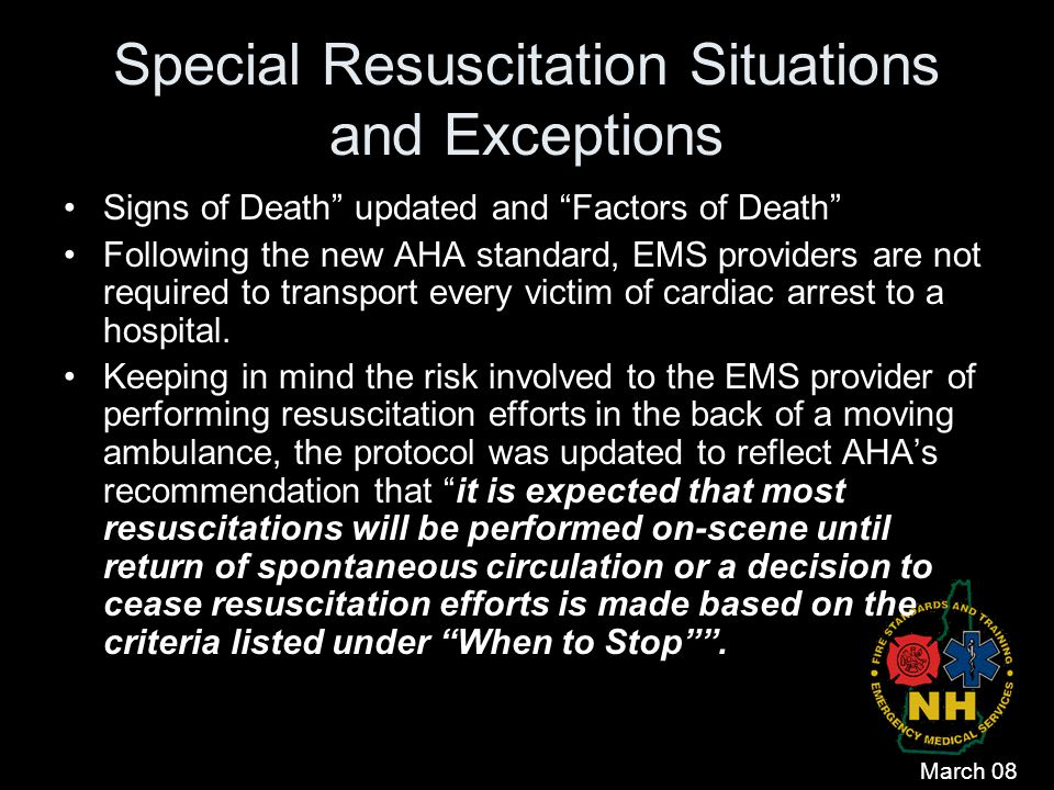 Special Resuscitation Situations and Exceptions