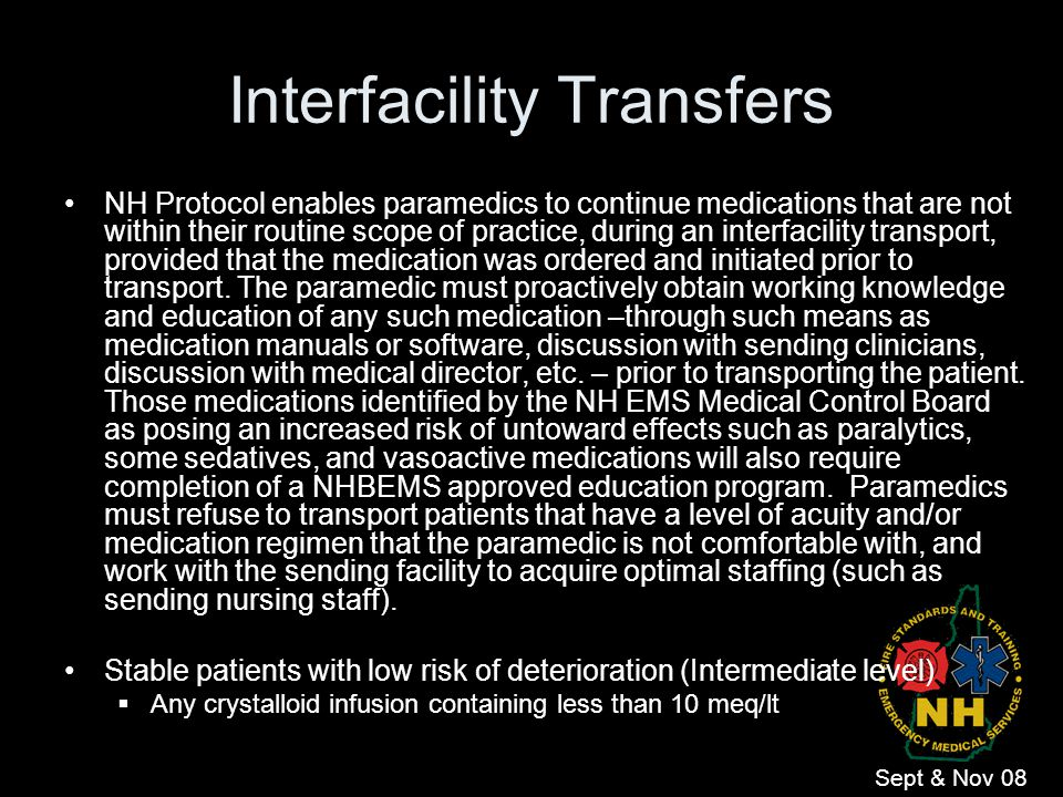 Interfacility Transfers