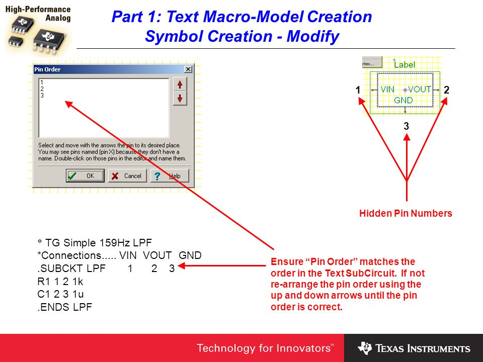 Part 1: Text Macro-Model Creation Symbol Creation - Modify