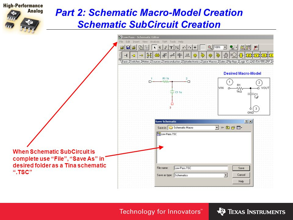 Part 2: Schematic Macro-Model Creation Schematic SubCircuit Creation