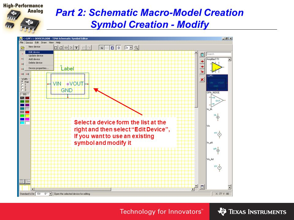 Part 2: Schematic Macro-Model Creation Symbol Creation - Modify
