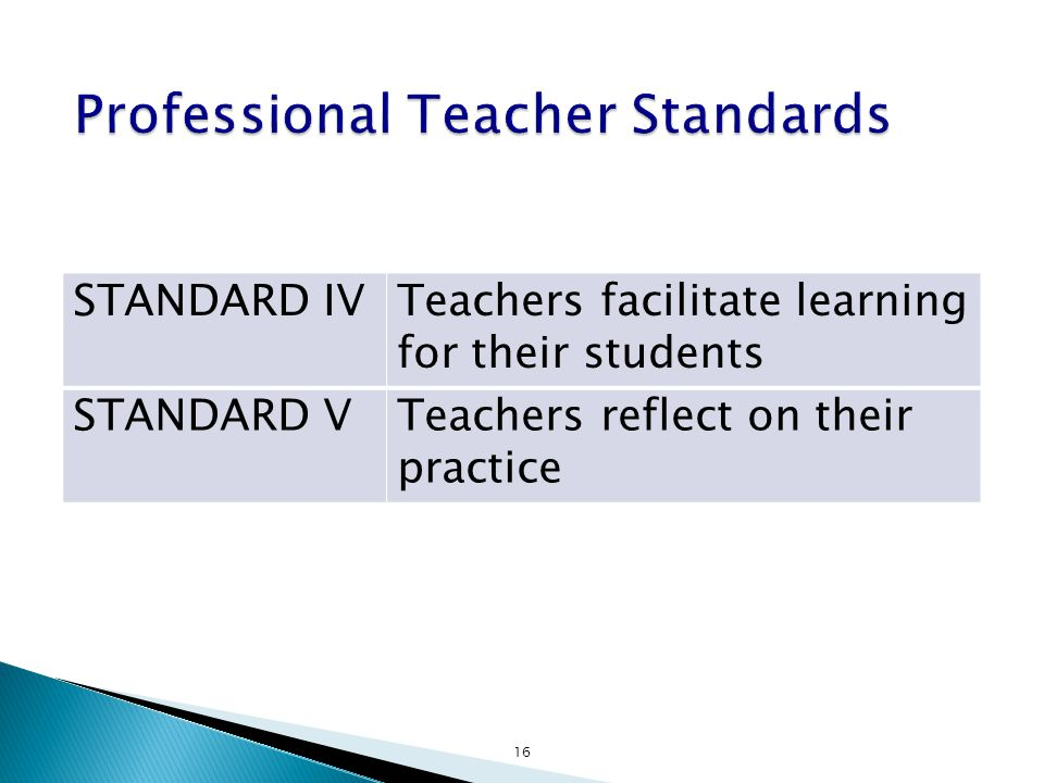 Professional Teacher Standards