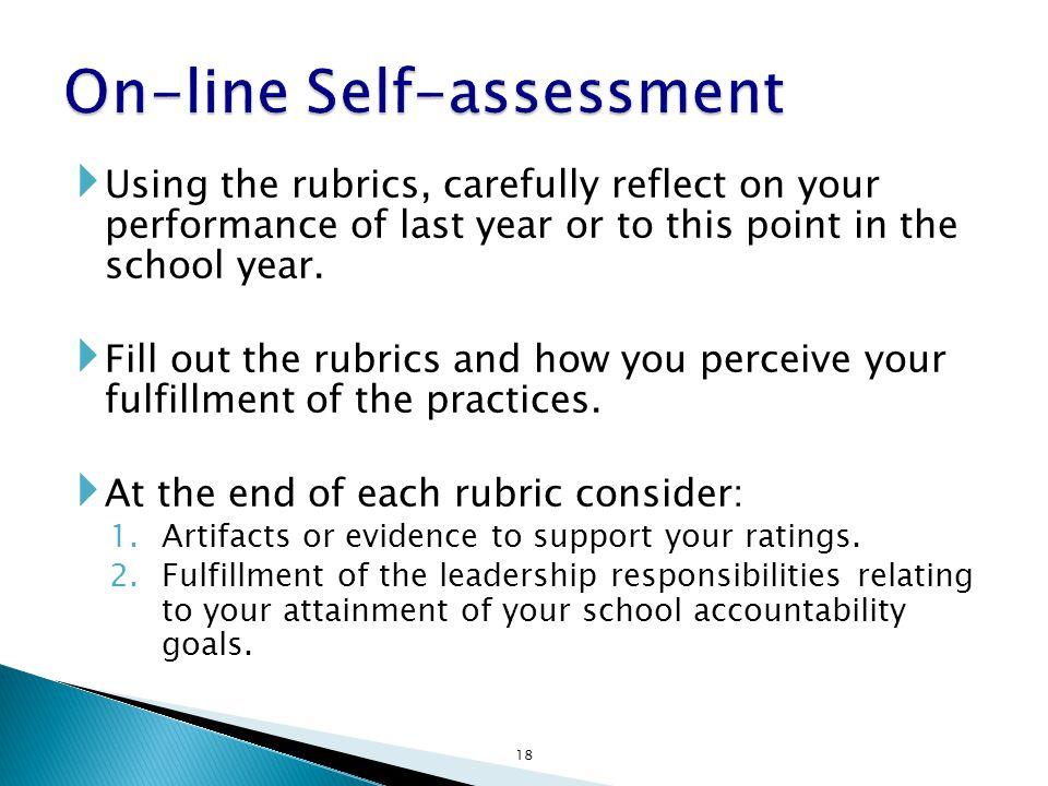 On-line Self-assessment