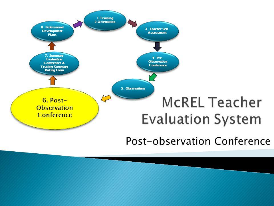McREL Teacher Evaluation System