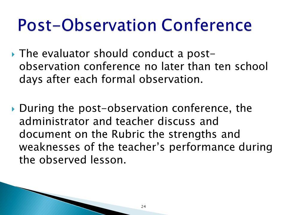 Post-Observation Conference
