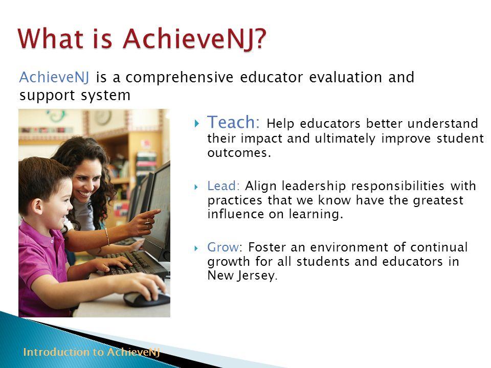 Introduction to AchieveNJ
