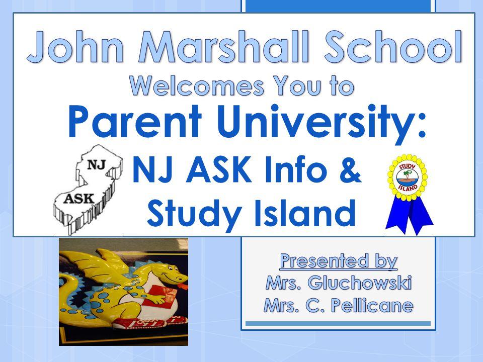 Parent University: NJ ASK Info & Study Island