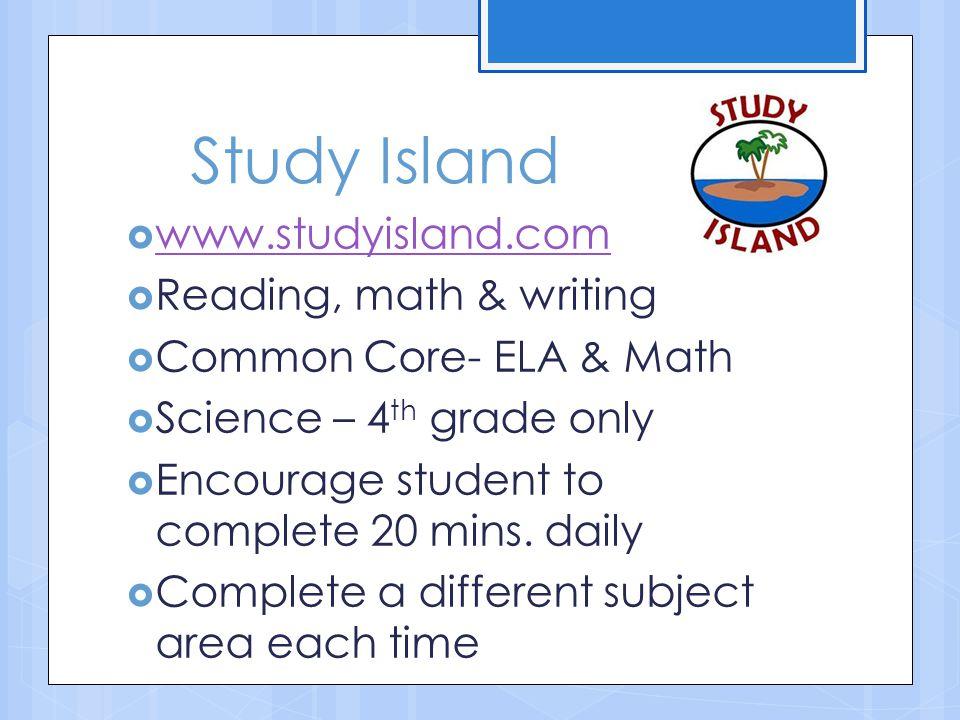 Study Island www.studyisland.com Reading, math & writing