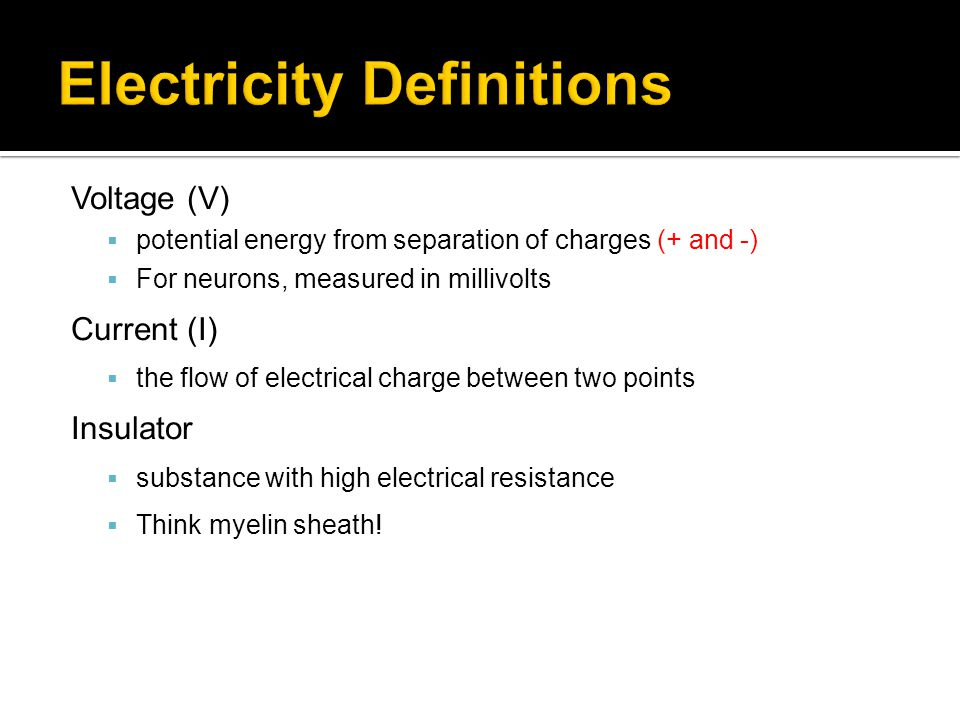 Electricity Definitions